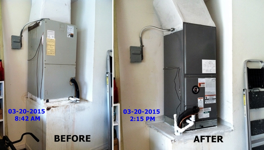 Before and after Heat Pump