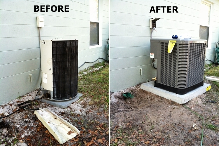 Before and After Air Handler